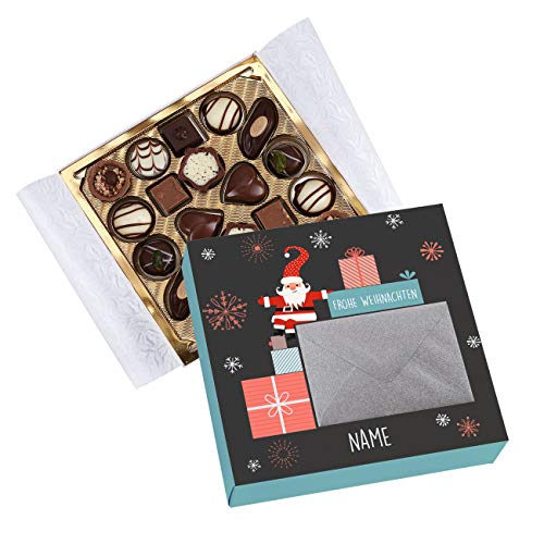 Herz & Heim® Lindt Mini-Pralinés mit Namensaufdruck als Geldgeschenk zu Weihnachten