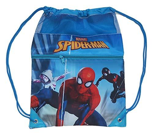 Spiderman Cordones Gym Bag 42cm Bolsa de Gimnasio Fitness y Ejercicio Infantil, Juventud Unisex, Multicolor (Multicolor), 42 cm