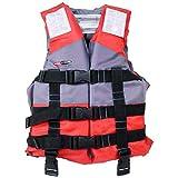 RUNA HISANO(ルナヒサノ) 子供用ライフジャケット フローティングベスト 救命胴衣 HI-61 男女兼用 海 川 水遊び 魚釣り 4色 (レッド, M)
