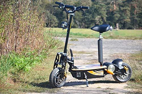 E-Scooter bis zu 35 km/h schnell - mit 25km Reichweite, 48V | 1500W | 12AH Akku, mit Bremsen und Lichter Captain