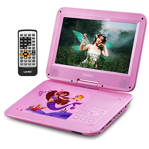 Great Price! UEME Portable DVD Player with 10.1 Inches HD LCD Screen, Car Headrest Mount Holder, Rem...