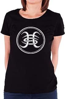LILILOV Women's T Shirts Heroes Del Silencio White Logo Black