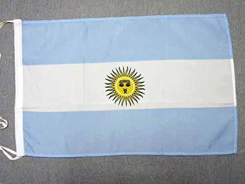 AZ FLAG Flagge ARGENTINIEN 45x30cm mit Kordel - ARGENTINISCHE Fahne 30 x 45 cm - flaggen Top Qualität