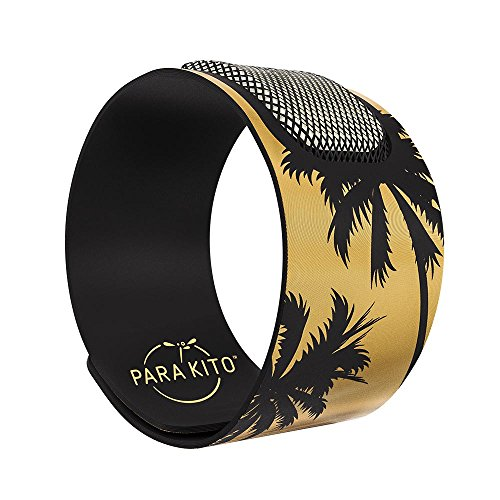 PARA'KITO Mosquito Insect & Bug Repellent Wristband - Waterproof, Outdoor Pest Repeller Bracelet w/ Natural Essential Oils - Gold Edition Party Wristbands (Las Vegas)