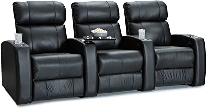 Palliser Westley Leather Home Theater Seating Power Recline - (Row of 3, Black)