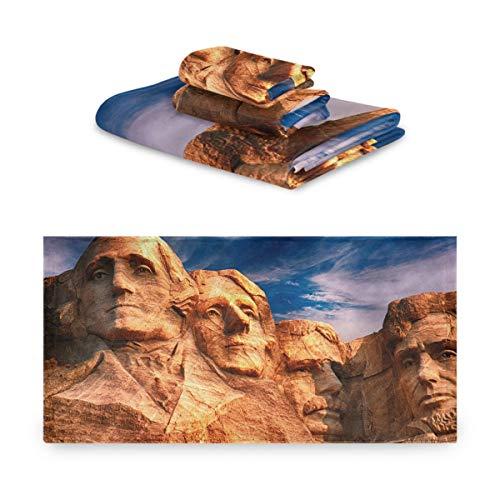 DEZIRO Mount Rushmore - Juego de toallas de baño (3 piezas)
