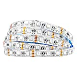 BTF-LIGHTING 16.4ft 5M 5050 RGBW 4 in 1 RGB+blanco frio tira de led Mezclado color 60leds/m IP65 impermeable en silicona 300LEDs...