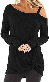 comprar comparacion ZODOF Mujeres Floja Ocasional Suéter de Punto PulloverNueva Mujer Otoño e Invierno Casual Raya Suéter de Punto Jersey