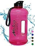 Lavabile in Lavastoviglie Sport Potabile Borraccia Palestra 2.2 litri, Blu - Bevande calde e Fredde, Grande Capacità, Prova di Perdite, senza BPA - Acqua Bottiglia 2,2L per Multiuso