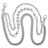 StillCool Wallet Chain, Punk Rock Style Keychain Suitable For Belt Loop, Purse Handbag Strap, Keys, Wallet and Traveling