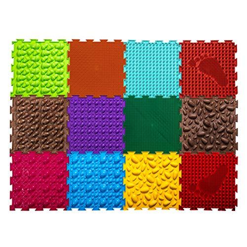 Ortoto EIN Satz orthopädischer Puzzle-Fußmatten mit 12 ineinandergreifenden Kacheln, um die Gesundheit der Kinder zu verbessern.