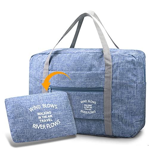 BAGZY Pliable Léger Sac de Voyage Rangement Bagage Portable Grande Taille Sac de Cabine Avion Organisateur Sac Valise à Main Sac à Dos Weekend Sac à Main Sac de Marin pour Voyage Sports