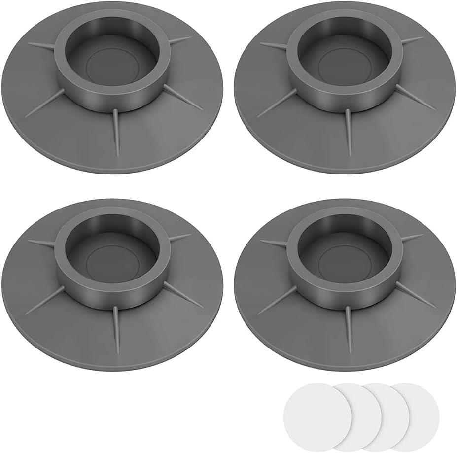 4 patas antivibraciones para lavadora, universales, antivibraciones, antideslizantes y antiruido, 4 cm TUP Anti-Shock Pad con nano cinta adhesiva