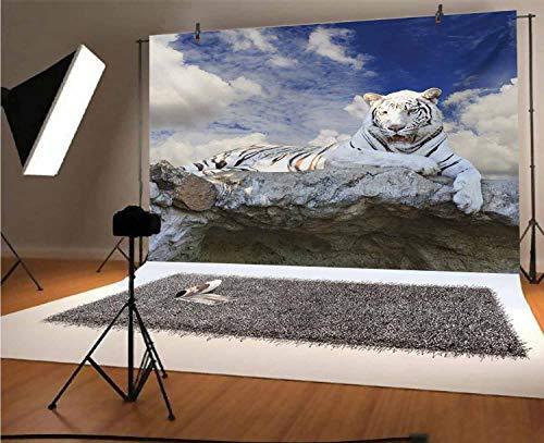 Tiger - Fondo de vinilo para fotografía de 1,8 x 1,8 m,...