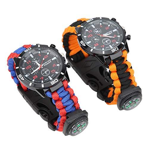 KUIDAMOS Reloj de Supervivencia multifunción con Cable de paracaídas Que Salva Vidas 7 núcleos, Adecuado para el Uso Diario