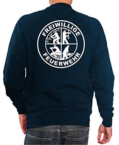 Sweatshirt Navy, Freiwillige Feuerwehr mit DFV-Signet