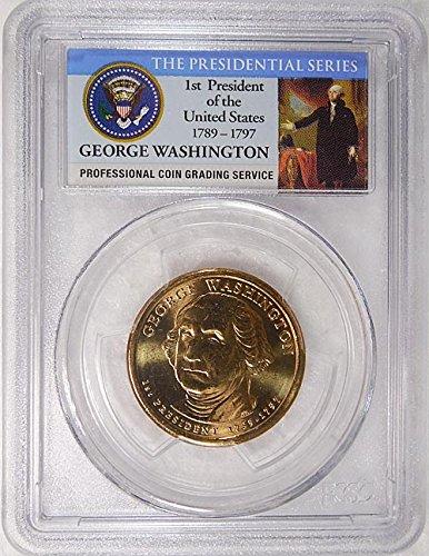 2007 D Pos. B George Washington Presidential Dollar PCGS MS 65 FDI Presidential Label Holder