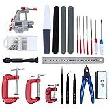 HSEAMALL Kit de herramientas de modelo Gundam, 23 piezas, herramientas básicas de modelado y juego de manualidades con pinzas de modelado para reparación y fijación de modelos