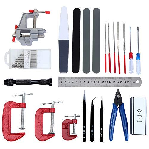HSEAMALL 23 STÜCKE Gundam Modeler Grundwerkzeuge, Modellbau Werkzeuge für Automodell Montagebaukasten