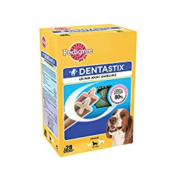 Warranty : 18 Packaging contents : 28 Pedigree Dentastix helps reduce the formation of pie by up to 80% through: Has its unique X-shaped shape With the combination of its special texture and active ingredients Low fat No sugars No artificial dyes or ...