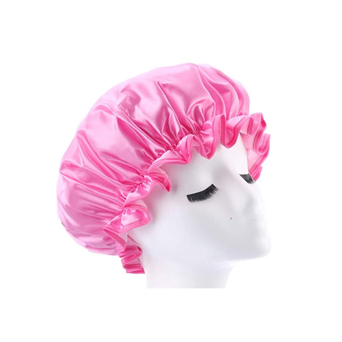 合併症森キャップシャワーキャップ、レディースシャワーキャップデラックスシャワーキャップすべての髪の毛の長さと太さの女性に適しています - 防水とカビ防止、再利用可能なシャワー。 (Color : 9)