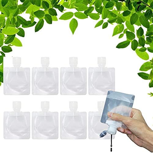 Sacchetto di imballaggio Vuoto di plastica Trasparente Liquido da Viaggio Portatile, Sacchetto di imballaggio a Conchiglia Trasparente Sacchetto di in Piedi Porta Un Adesivo(8PCS, 30ML)