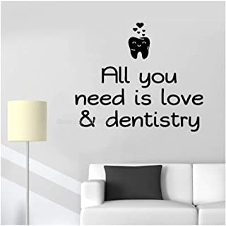 Kkglo All You Need Is Love Dental Wall Decals Dentist Office Stickers Dentist Clinic Vinyl Art Decoration 66X56Cm