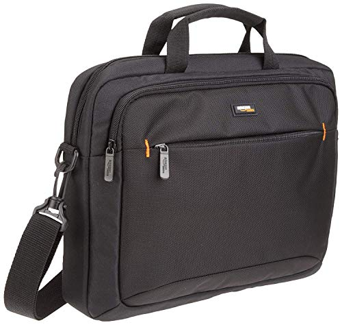 AmazonBasics 14-Inch Laptop Macbook and Tablet Shoulder Bag Carrying Case, Black, 1-Pack
