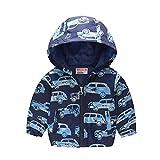 Abrigo para bebé niña, niña, niño o niña, sin forro con capucha, cortavientos, ropa de exterior de manga larga para niños, cortavientos de 1 a 6 años, Bleu2, 1-2 Years