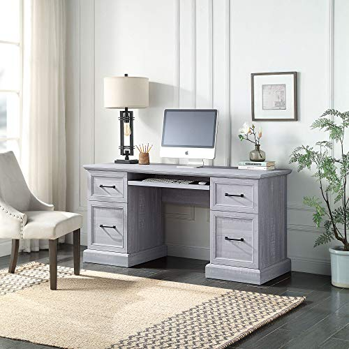 "BELLEZE Rhudi 62"" Executive Desk, Stone Grey"