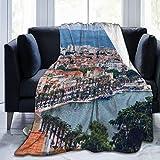 QINCO Couverture de Jet,Split, Croatie (région de la Dalmatie) Site du Patrimoine Mondial de l'UNESCO,Salon/Canapé-lit en Microfibre Toutes Saisons Couette en Flanelle,40' x 50'