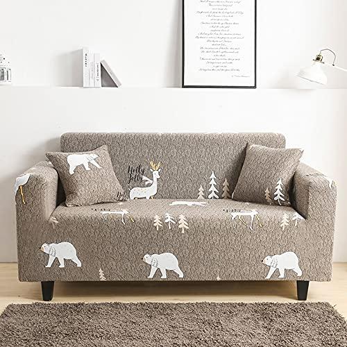 Funda de sofá elástica elástica Ajustada Ultra Spandex Funda de sofá para Sala de Estar Funda de poliéster Funda de sofá Profunda A20 3 plazas