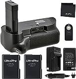 Battery Grip Bundle for Nikon D5300, D5200, D5100, D3300, D3200, D3100: Includes Vertical Battery Grip, 2-Pk EN-EL14 Long-Life Batteries, Charger, Remote, Microfiber Cleaning Cloth
