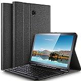 IVSO Tastatur Hülle für Samsung Galaxy Tab S4 T830/T835,[QWERTZ Deutsches], Slim PU Fronthalterung Hülle mit Abnehmbar Tastatur für Samsung Galaxy Tab S4 T830/T835 10.5 Zoll 2018, Fog