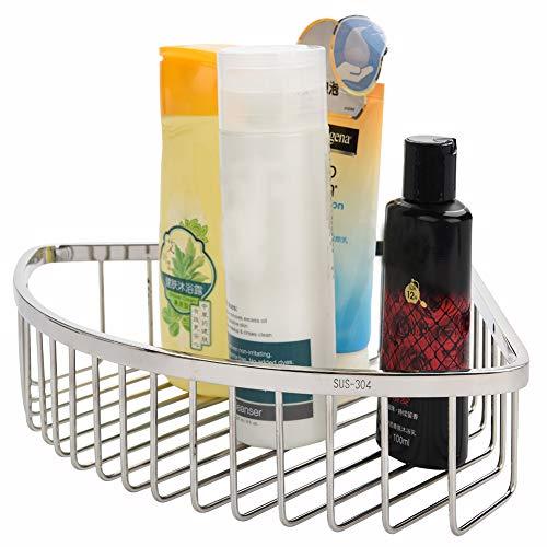 Zerone Duschregal, Wandhalterung, aus Edelstahl, Duschkorb zur Aufbewahrung von Badezimmer für Seife, Shampoo, Eckhalterung, für Küche, Badezimmer, Dusche, Hauteur de 9cm