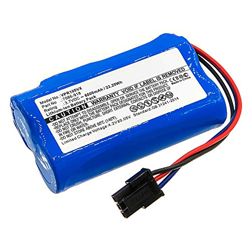 subtel® Batería Premium 3.7V, 6000mAh, Li Ion Compatible con Wolf-Garten Power 100 bateria de Repuesto 7086-918 Pila