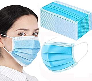 50pcs Face Masks Disposable 3 Layers Dustproof Mask Facial Protective Cover Masks Set Anti-Dust