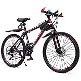 Bicicleta Montaña MTB MTB 26 pulgadas MTB de la bicicleta de montaña de 21 velocidades for mujer for hombre adulto Frente Barranco bicicleta de doble suspensión del marco de doble freno de disco de ac