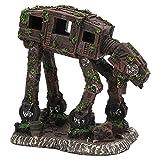 Tnfeeon Adornos para Perros Robot de Acuario, Material de Resina Robot Perro pecera decoración Peces Ocultar Cueva Robot Decoraciones