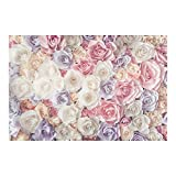 Bilderwelten Fotomural - Pastel Paper Art roses - Mural apaisado papel pintado fotomurales murales pared papel para pared foto 3D mural pared barato decorativo, Dimensión Alto x Ancho: 190cm x 288cm