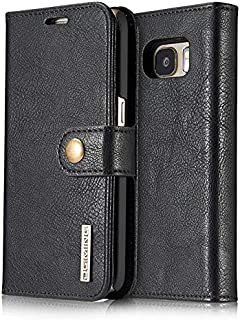 Vintage Business Style Leather Flip Cover For Samsung Galaxy S7 edge Multifunction Shockproof Case Cards Holder Wallet Shell Black
