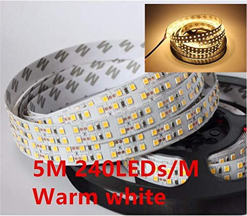 HVTKL 240leds / m 480leds / M 12V 24V 2835 LED-lamp aangestoken double IP20 5m / roll white LED strip/warm wit 1200led / 5m 2400leds / 5m HVTKL (Color : DC24V, Emitting Color : RGB)