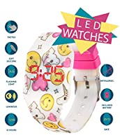 Orologio digitale a LED KIDDUS per bambini, ragazze, adulti. Cinturino comodo in morbido silicone. Batteria giapponese lunga durata. Facilità di lettura e apprendimento dell'ora. #1