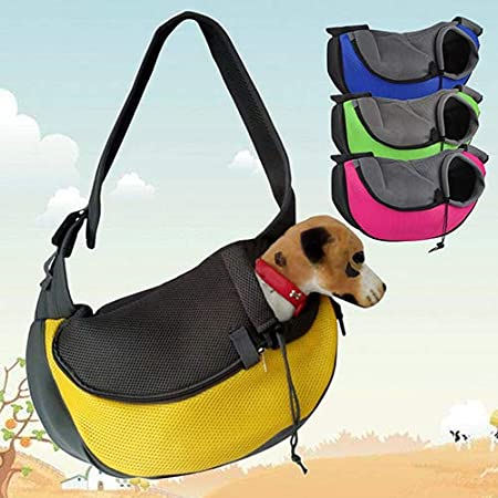 haixclvyE Outdoor Small Dog Cat Sling Carrier Bag Travel Tote Soft Comfortable Puppy Kitty Rabbit Pouch Shoulder Carry Tote Pet Carrier