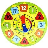Juinsa- Reloj madera puzzle encajes, 30 x 30 cm (12910) , color/modelo surtido