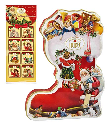 Heidel Weihnachtsset | Weihnachtsstiefel | Nikolausstiefel | Schokoladentäfelchen | Schokoladenpralinen | Schokolade
