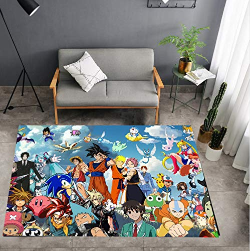 juan Alfombra Personalidad Dragon Ball One Piece Naruto Anime Alfombras De Personaje Sala De Estar Habitación Habitación Mesita De Noche Colchoneta De Juego para Niños 120 Cm * 160 Cm