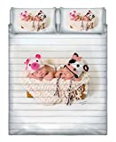 Italian Bed Linen Tenerezze Trapuntino Estivo con Stampa in Digitale, 100% Cotone, Tn07, Matrimoniale, 260x270x1 cm