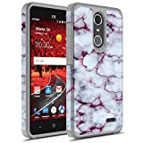 ZTE Grand X4 Case, ZTE Blade Spark Case, Rosebono Hybrid Dual Layer Shockproof Hard Cover Graphic Fashion Cute Colorful Case for ZTE Grand X4 - Pluple Marble