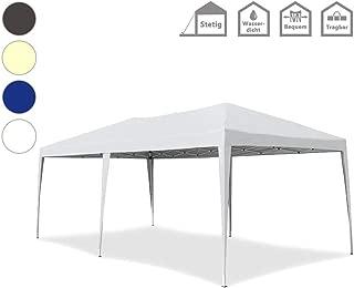 Froadp Faltpavillon 3x6m UV-Schutz Partyzelt Sonnenschutz Pavillon mit Tasche Wasserdicht Festzelt für Garten Party Hochzeit Picknick(Weiß)